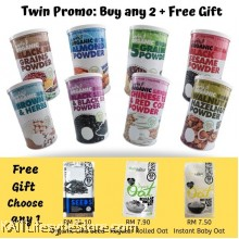 EARTH LIVING Organic Superfood Beverages Twin Promo with Free Gift