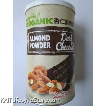 EARTH LIVING Organic Almond Dark Chocolate Powder (500gm)