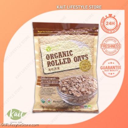 LOHAS Organic Rolled Oats (500gm)