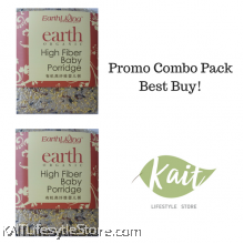 EARTH LIVING Organic High Fiber Baby Porridge (1kgX2)[Double Combo]