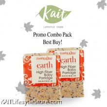 EARTH LIVING Organic High Fiber Baby Porridge (1kgX2)[Double Combo]