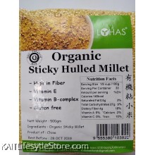 LOHAS Organic Sticky Hulled Millet (500gm)