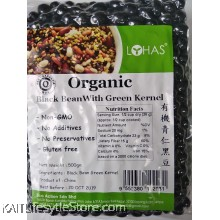 LOHAS Organic Black Bean With Green Kernel (500gm)