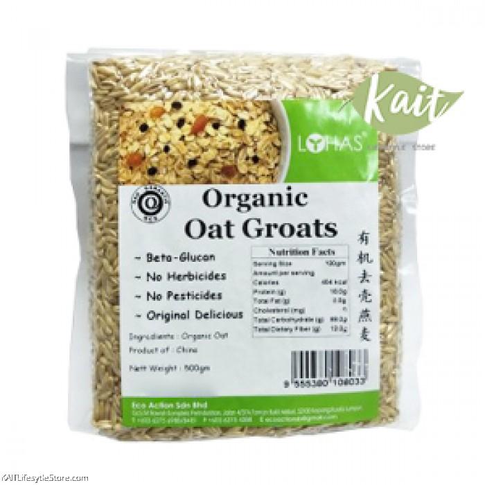 LOHAS Organic Oat Groats (500gm)