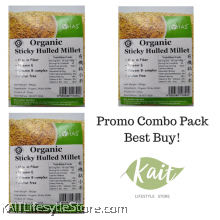 LOHAS Organic Sticky Hulled Millet (500gmX3pkt)[Trio Combo]