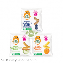 LITTLE BELLIES Organic Superfood Baby Puffs