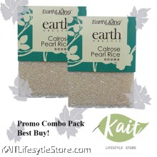 EARTH LIVING Organic Calrose Pearl Rice (1kgX2)[Double Combo]