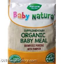 BABY NATURA: Organic Brown Rice Porridge - Pumpkin (20g) Single Sachet