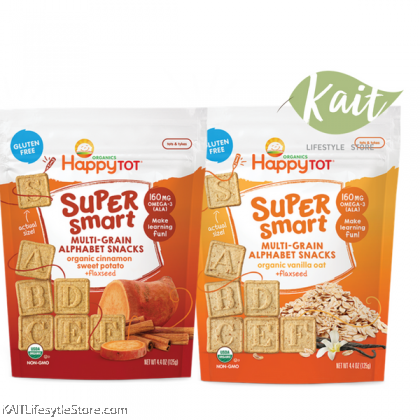 HAPPYBABY Super Smart Multi-Grain Alphabet Snacks (125g)