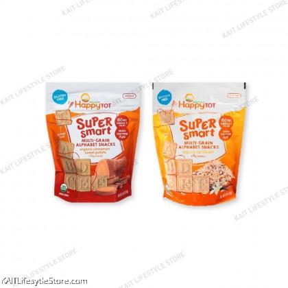 HAPPYBABY Super Smart Multi-Grain Alphabet Snacks (125g)