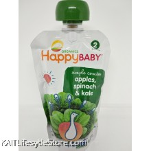 HAPPYBABY: HB Stage 2- Apples/Spinach/Kale (113g)