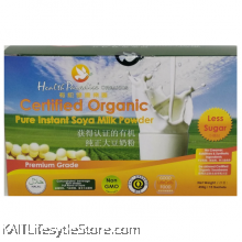 HEALTH PARADISE Organic Pure Instant Soya Milk Powder (Less Sugar) 450gm