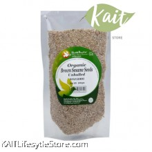 HEALTH PARADISE Organic Brown Sesame Seeds (Unhilled) 200gm