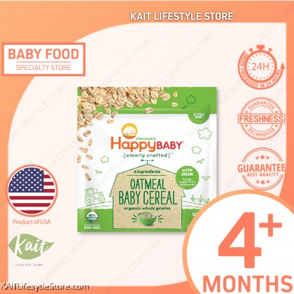 HAPPYBABY CLEARLY CRAFTED BABY CEREAL - OATMEAL (198G)