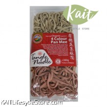 COUNTRY FARM ORGANIC CURLY NOODLE - 4 COLOUR PAN MEE (300G)