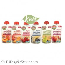 EARTH'S BEST Organic Baby Puree (6 Months+) Pouch