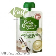 ONLY ORGANIC Vanilla Bean Custard (120g)