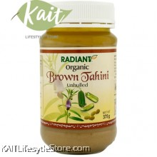 RADIANT  Organic Brown Tahini (Unhulled) (375g)