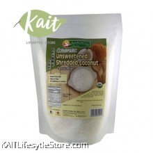 HEALTH PARADISE Organic Unsweetened Shredded Coconut - Low Fat (200gm)