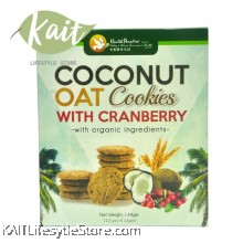 HEALTH PARADISE Coconut Oat Cookies with Cranberry (144gm)