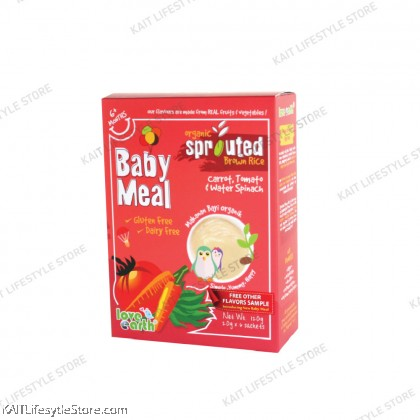 LOVE EARTH Organic Sprouted Brown Rice Baby Meal Original (120g)