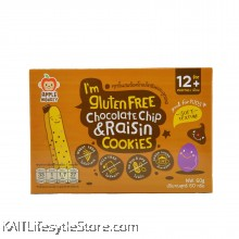 APPLE MONKEY: Gluten Free Cookies - Chocolate Chips & Raisin (60g)