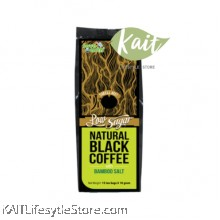 LOVE EARTH Natural Black Coffee With Bamboo Salt [Low Sugar] (15 x 10g)