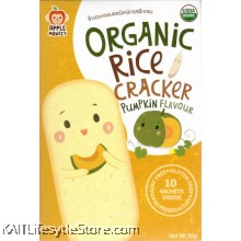 APPLE MONKEY: Organic Rice Cracker - Pumpkin (30g)