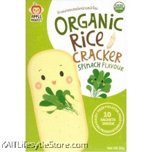 APPLE MONKEY: Organic Rice Cracker - Spinach (30g)