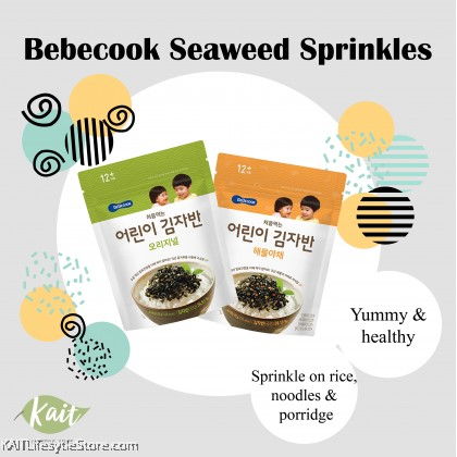 BEBECOOK Very First Seaweed Chops (15g) [12 Months]