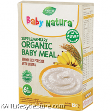 BABY NATURA: Organic Brown Rice Porridge - Banana (120g)