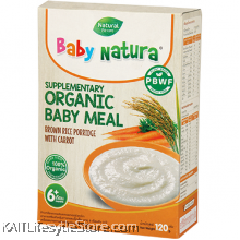 BABY NATURA: Organic Brown Rice Porridge - Carrot (120g)