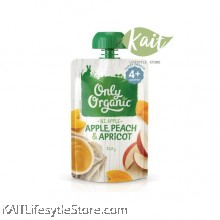 ONLY ORGANIC Apple Peach & Apricot (120g) [4m+]