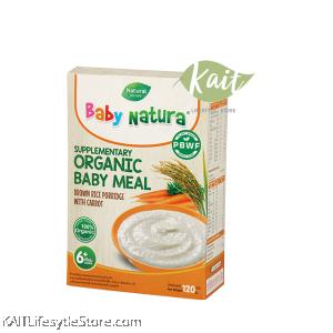BABY NATURA Organic Brown Rice Porridge (6x20g)
