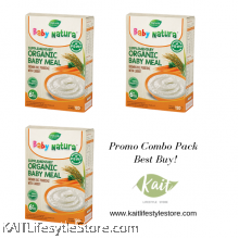 BABY NATURA: Organic Brown Rice Porridge - Carrot (120gx3 Box) [Trio Combo]