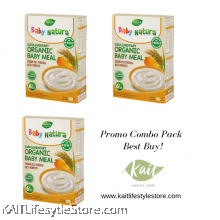 BABY NATURA: Organic Brown Rice Porridge - Pumpkin (120gx3 Box)[Trio Combo]