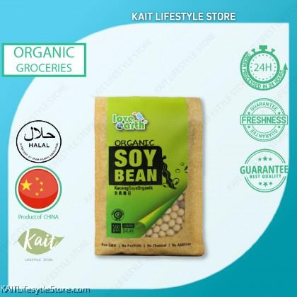 LOVE EARTH Organic Soy Bean  [HALAL] (500gm)