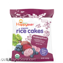 HAPPYBABY: Happy Munchies - Blueberry & Beet Rice Cakes (40g)