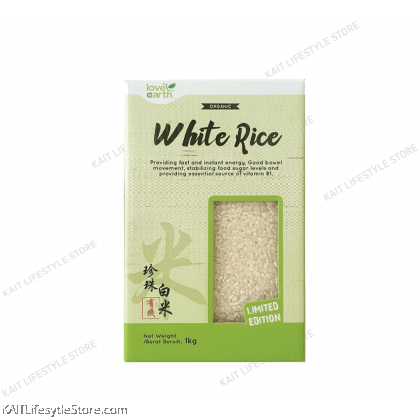 LOVE EARTH Natural White Rice (1kg)