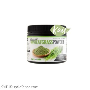 LOVE EARTH Organic Wheatgrass Powder [Halal] (185g)