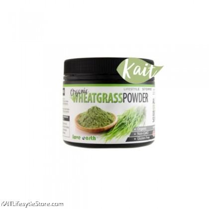 LOVE EARTH Organic Wheatgrass Powder [Halal] (185g)