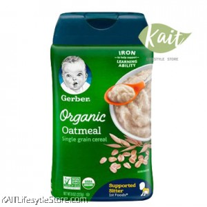 Gerber 1st Foods Organic Single Grain Baby Cereal (8oz)