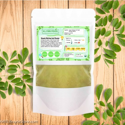 KLYNNFOOD Organic Moringa Leaf Powder
