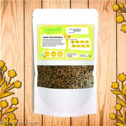 KLYNNFOOD Organic 3 Colour Mixed Quinoa (350gm)