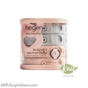 Hegen PCTO Breast Milk Storage Lids (4's) Pink & Grey