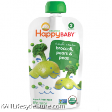 HAPPYBABY: HB Stage 2 - Peas/Broccoli/Pear (99g)