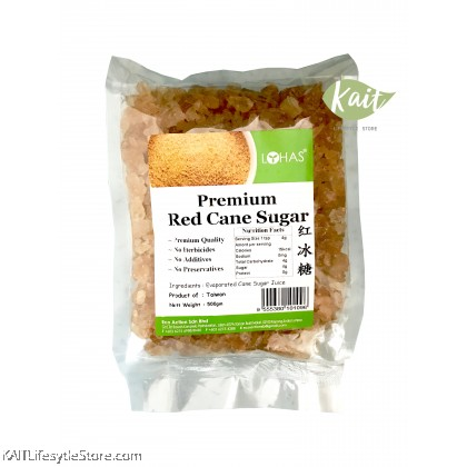 LOHAS Premium Red Cane Sugar (500gm)