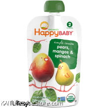 HAPPYBABY: HB Stage 2 - Spinach/Mango/Pear (99g)