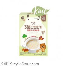 MIZNCO Sweet Potato & Chestnut 3 Minutes Baby Rice Porridge (10g x 8s) [6 months]