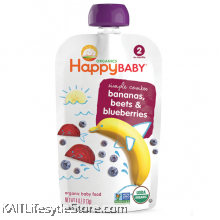 HAPPYBABY: HB Stage 2- Banana/Beet/Blueberry (99g)